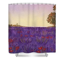 Lavender Evening Shower Curtain by Anastasiya Malakhova
