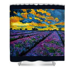 Lavender Fields At Dusk Shower Curtain