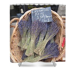 Lavender For Sale Shower Curtain by Pema Hou
