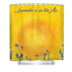 Lavender In The Air Shower Curtain