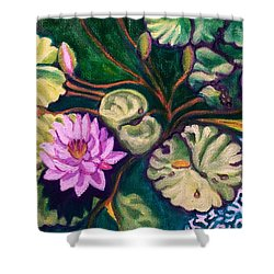 Lavender Lotus Flower Shower Curtain