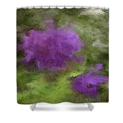 Shower Curtain featuring the digital art Monet Meadow by The Art of Alice Terrill