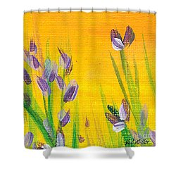 Lavender - Hanging Position 1 Shower Curtain