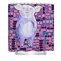 Lavender Piglet Shower Curtain