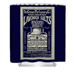Lavender Salts Ad 1893 Shower Curtain by Phil Cardamone