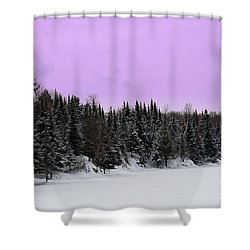 Shower Curtain featuring the photograph Lavender Skies by Bianca Nadeau