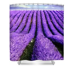 Lavender Straight Shower Curtain
