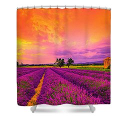 Lavender Sunset Shower Curtain