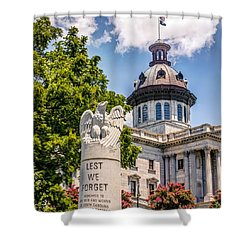 Shower Curtain featuring the photograph Law Enforcement Memorial by Rob Sellers
