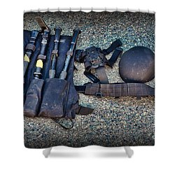 Law Enforcement -swat Gear - Entry Tools Shower Curtain by Paul Ward