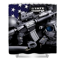 Law Enforcement Tactical Trooper Shower Curtain by Gary Yost