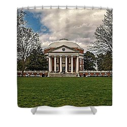 Lawn And Rotunda At University Of Virginia Shower Curtain