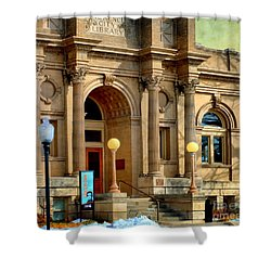 Lawrence City Library Shower Curtain