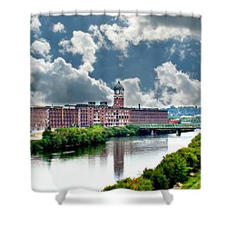 Lawrence Ma Historic Clock Tower Shower Curtain by Barbara S Nickerson