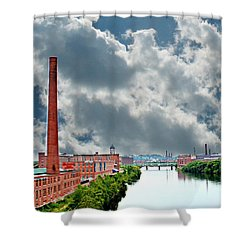 Lawrence Ma Skyline Shower Curtain