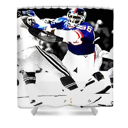 Lawrence Taylor Out Of My Way Shower Curtain by Brian Reaves