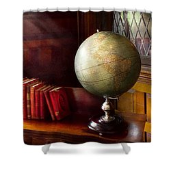 Lawyer - A World Traveler Shower Curtain by Mike Savad