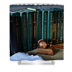 Lawyer - The Code Of Criminal Justice Shower Curtain by Paul Ward