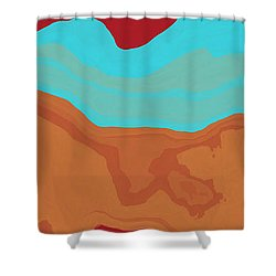 Layers And Form 2 Shower Curtain by David G Paul