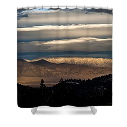 Layers Shower Curtain by Cat Connor