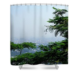 Layers Of Tree Shower Curtain