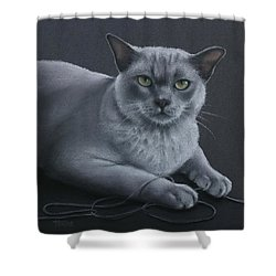 Shower Curtain featuring the pastel Layla by Cynthia House