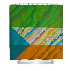 Shower Curtain featuring the mixed media Layover by Michele Myers