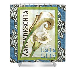 Lazy Daisy Lily 1 Shower Curtain by Debbie DeWitt