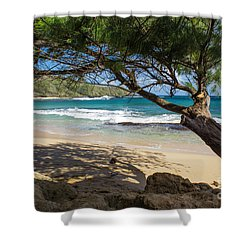 Lazy Day At The Beach Shower Curtain by Suzanne Luft