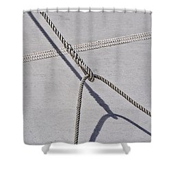 Shower Curtain featuring the photograph Lazy Jack-shadow And Sail by Marty Saccone
