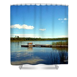 Lazy Summer Day Shower Curtain by Desiree Paquette