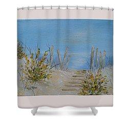 Lbi Peace Shower Curtain by Judith Rhue