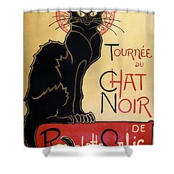 Le Chat Noir Shower Curtain by Georgia Fowler