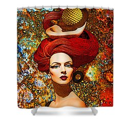 Le Cheveux Rouges Shower Curtain by Chuck Staley