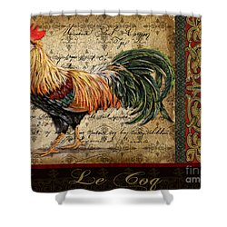 Le Coq-c Shower Curtain by Jean Plout