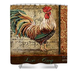 Le Coq-g Shower Curtain by Jean Plout