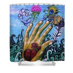 Le Destin Du Humain Shower Curtain by Genevieve Esson