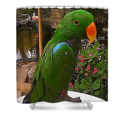 Le Parrot Shower Curtain