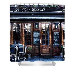 Le Petit Chatelet Paris France Shower Curtain