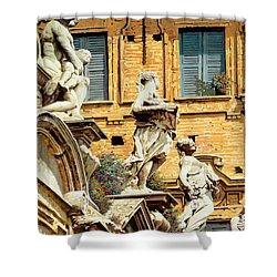 Le Statue Shower Curtain by Guido Borelli