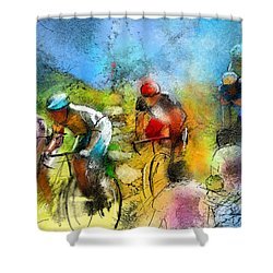 Le Tour De France 01 Shower Curtain by Miki De Goodaboom