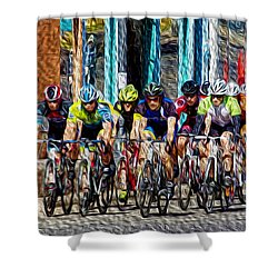 Leader Of The Pack Shower Curtain by Vicki Pelham