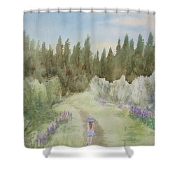 Leading The Way Shower Curtain by Martin Howard