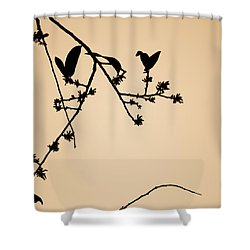 Leaf Birds Shower Curtain
