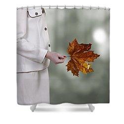 Leaf Shower Curtain by Joana Kruse