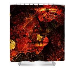 Leaf Man Shower Curtain by Elizabeth McTaggart