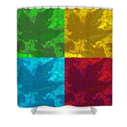 Leaf Pop Art Shower Curtain by Barbara McDevitt