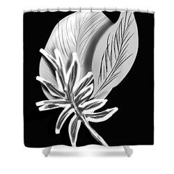 Leaf Ray Shower Curtain by Christine Fournier