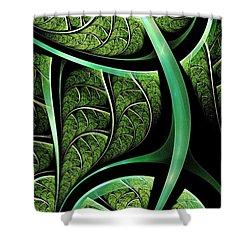 Leaf Texture Shower Curtain by Anastasiya Malakhova