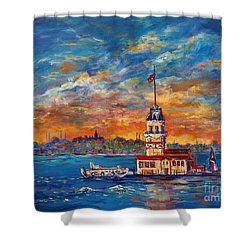 Leanders Tower  Istanbul Shower Curtain